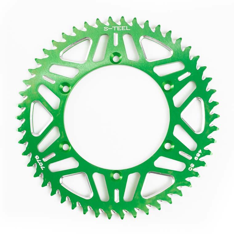 Aluminium Sprockets - Green