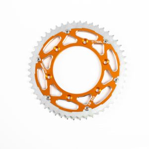 S-TEEL Rear Sprocket 'Alu Ferro' Orange